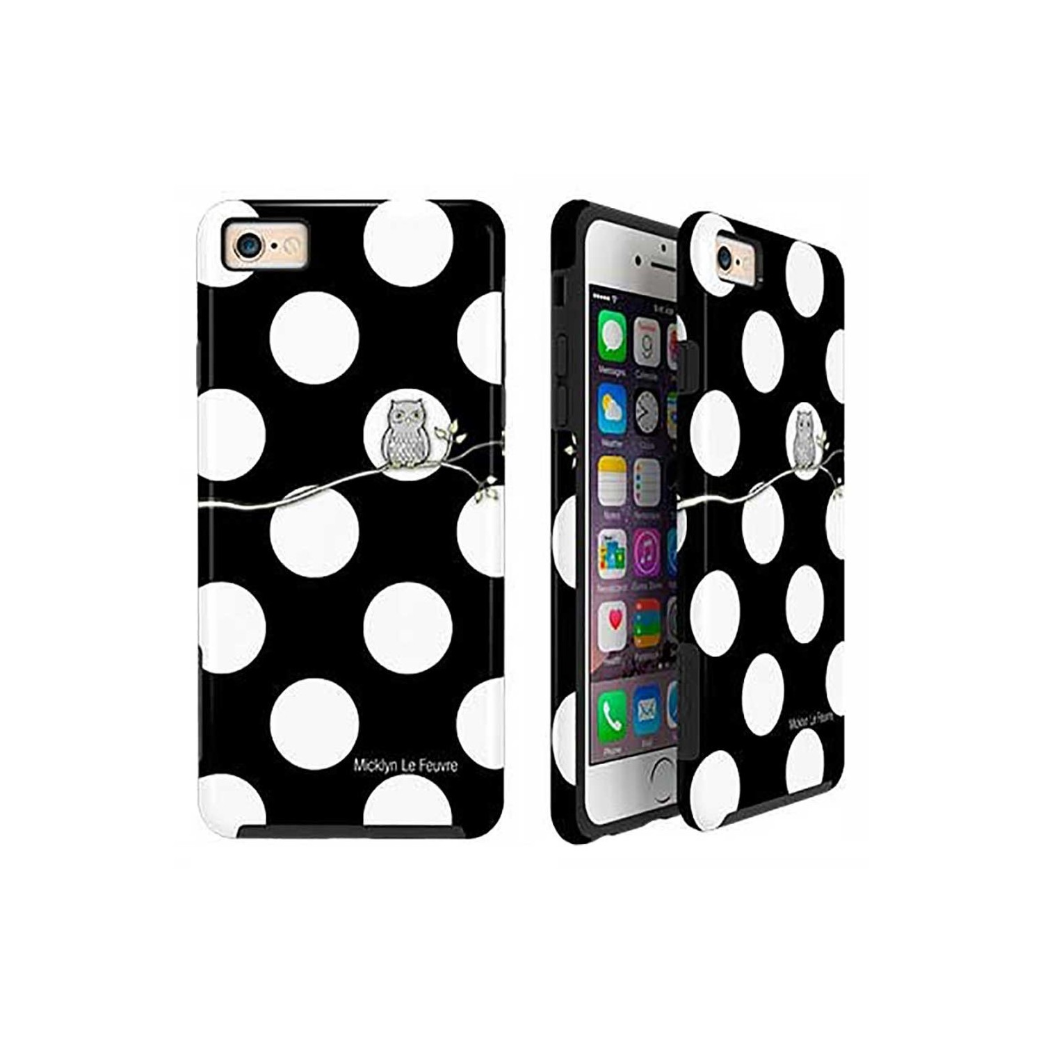 Case -  ArtsCase StrongFit for iPhone 6/6s  Polka Dot Owl