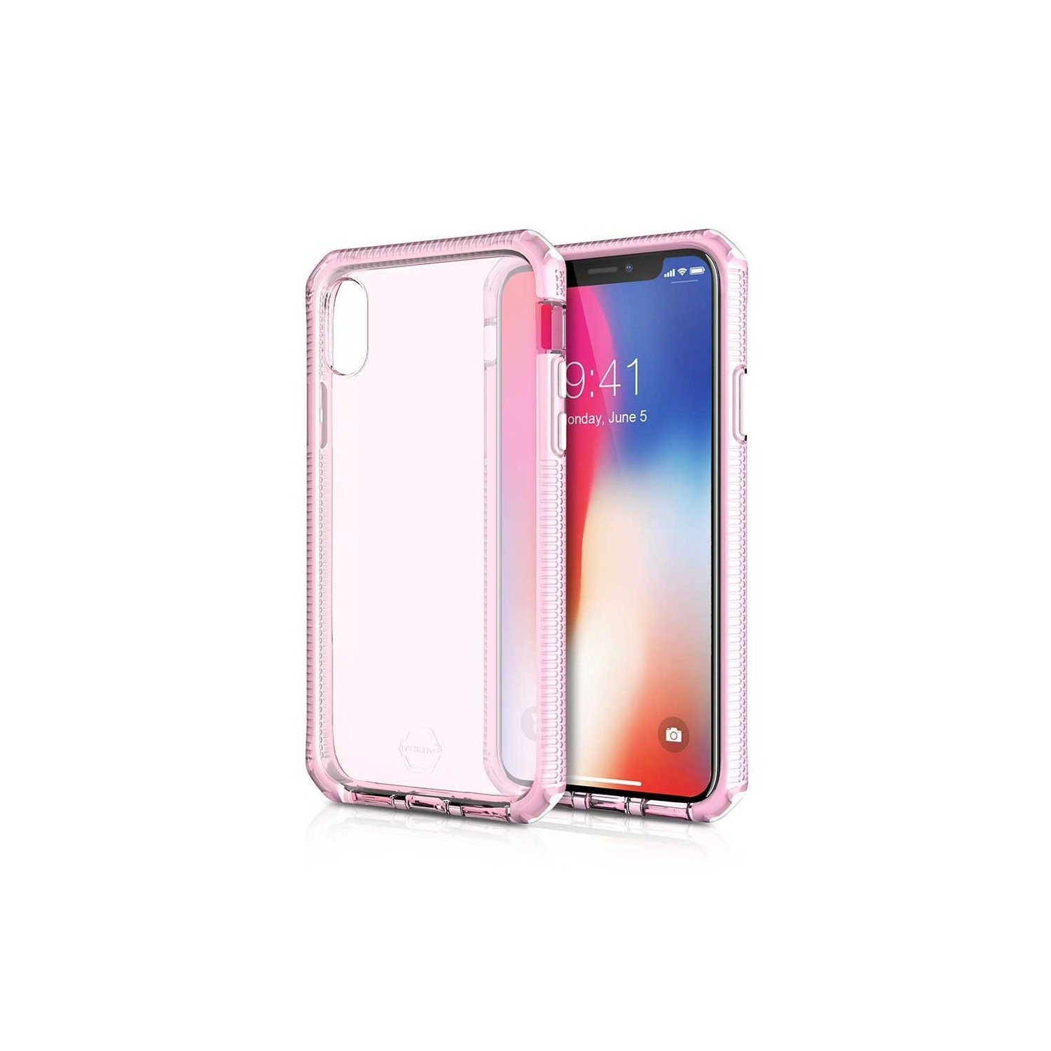 Case - ITSKINS Supreme case for iPhone Xs / X - Trans Pink