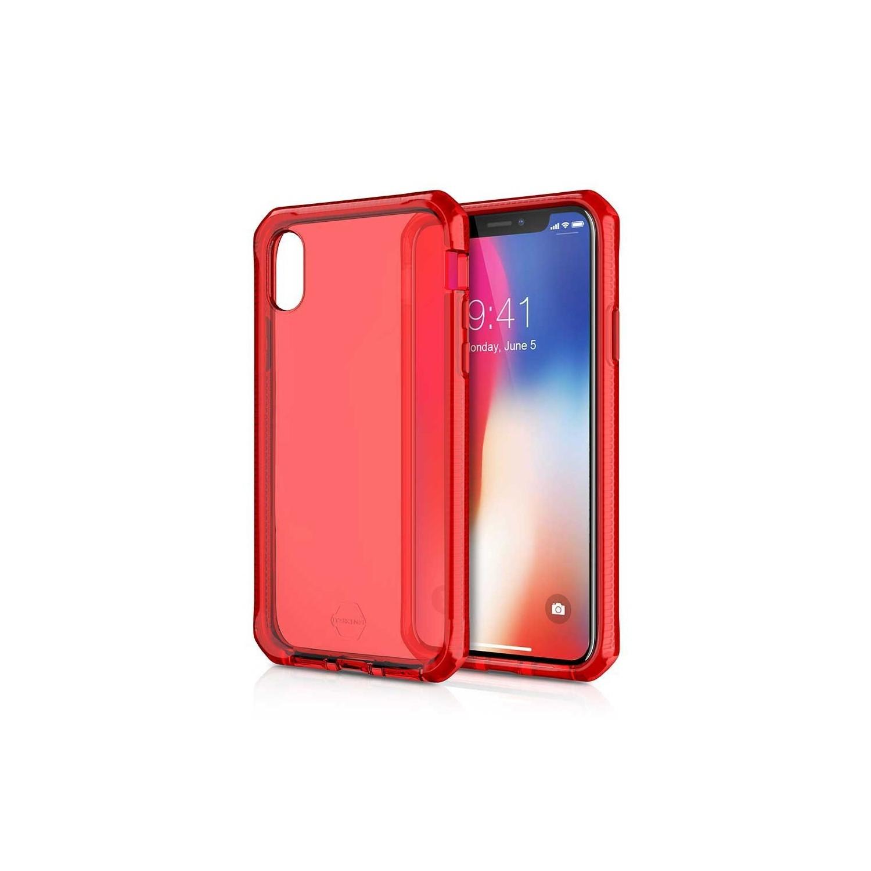 . Funda ITSKINS Supreme para iPhone X y Xs Roja Translucida