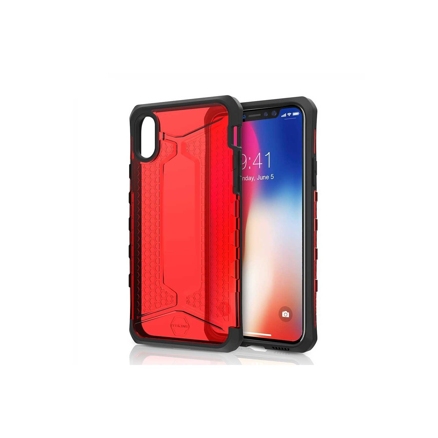 Case - ITSKINS Octane case for iPhone Xs / X - Red