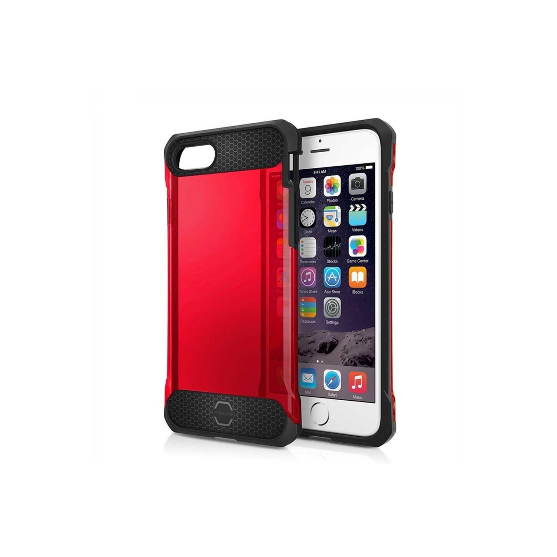 . Funda ITSKINS Spina para iPhone 8 PLUS y 7 PLUS Roja Translucida
