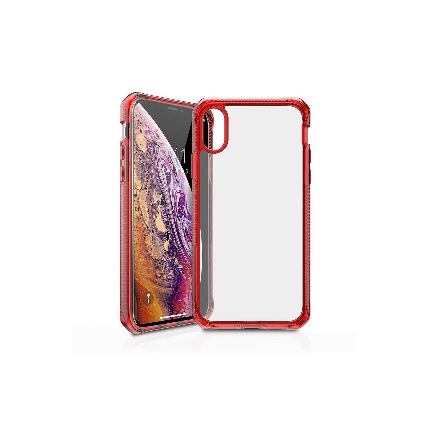 Case - ITSKINS Hybrid case for iPhone Xs / X - Tra Red