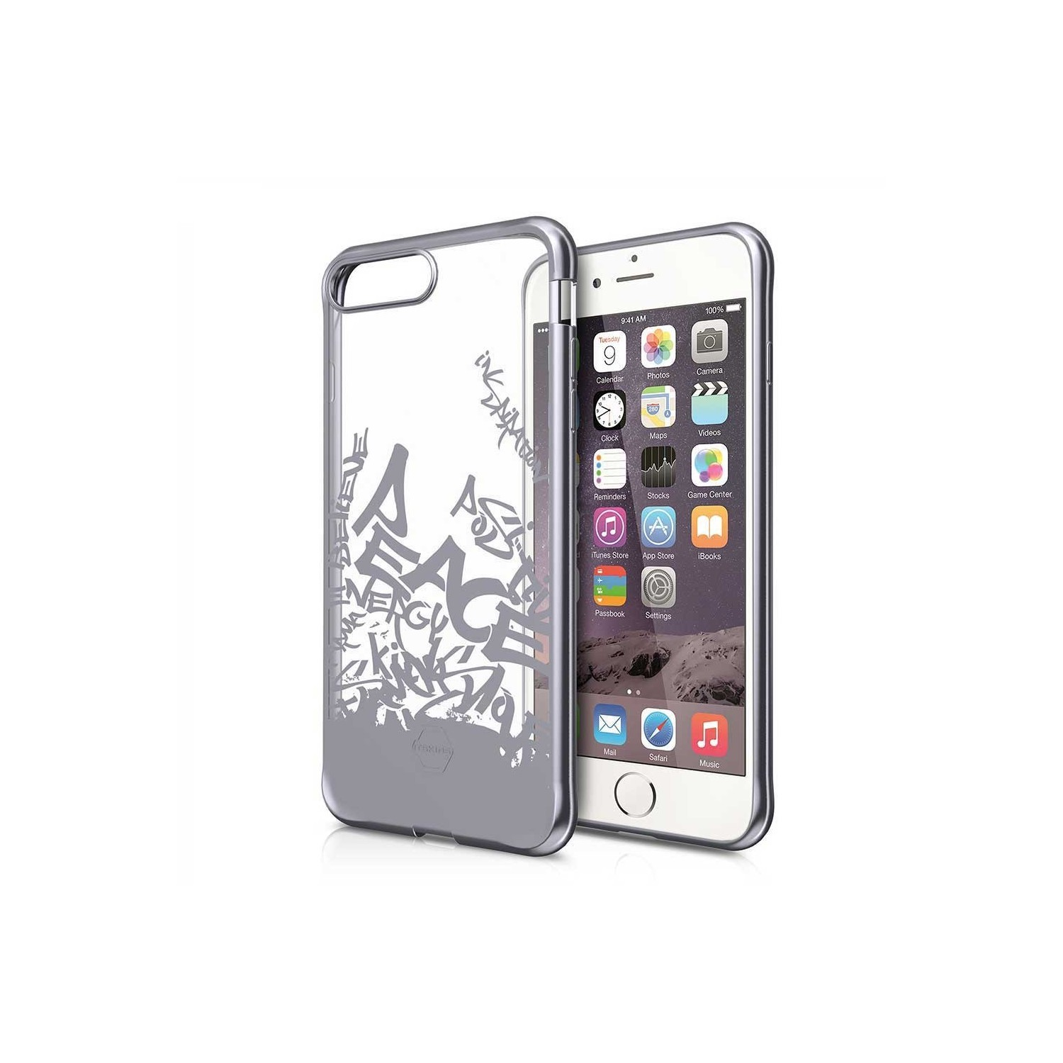 Case - ITSKINS Artgel case for iPhone 8 / 7 - Clear Space Gray