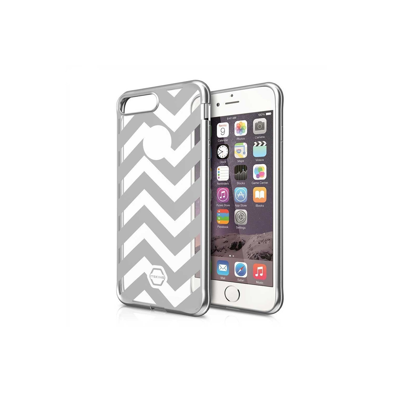 . Funda ITSKINS Artgel para iPhone 8 PLUS y 7 PLUS Plat Tran Lineas