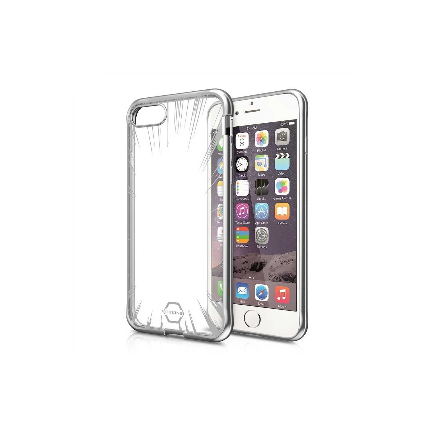 Case - ITSKINS Artgel case for iPhone 8 / 7 - Space Gray