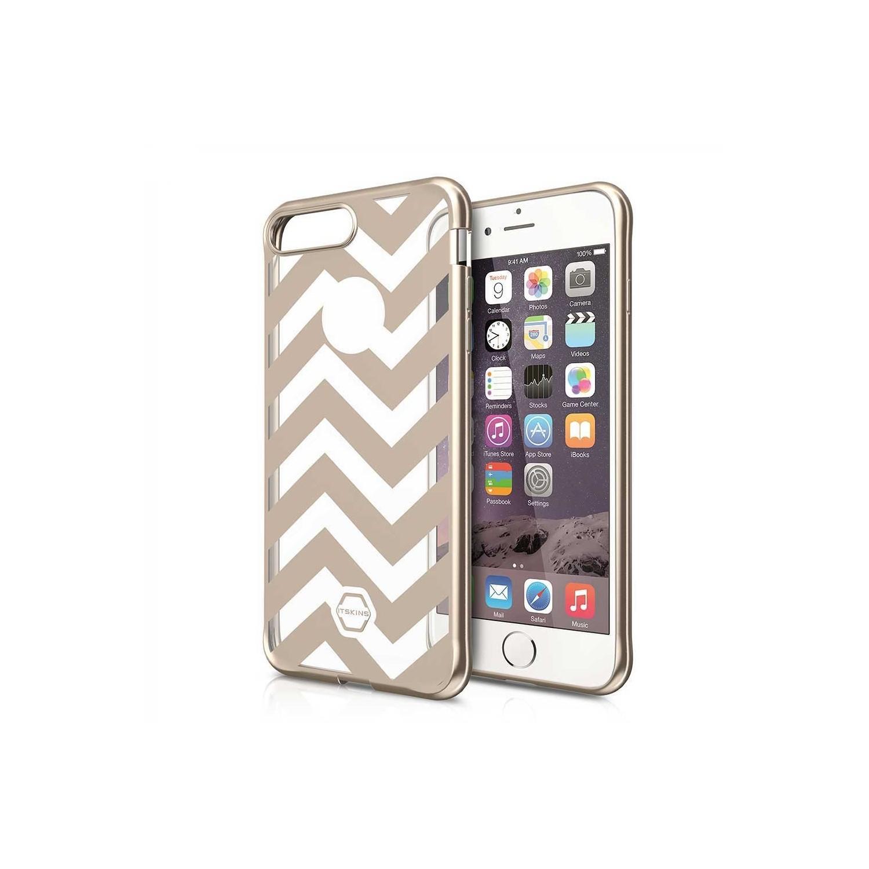 . Funda ITSKINS Artgel para iPhone 8 PLUS y 7 PLUS Oro Tran Lineas