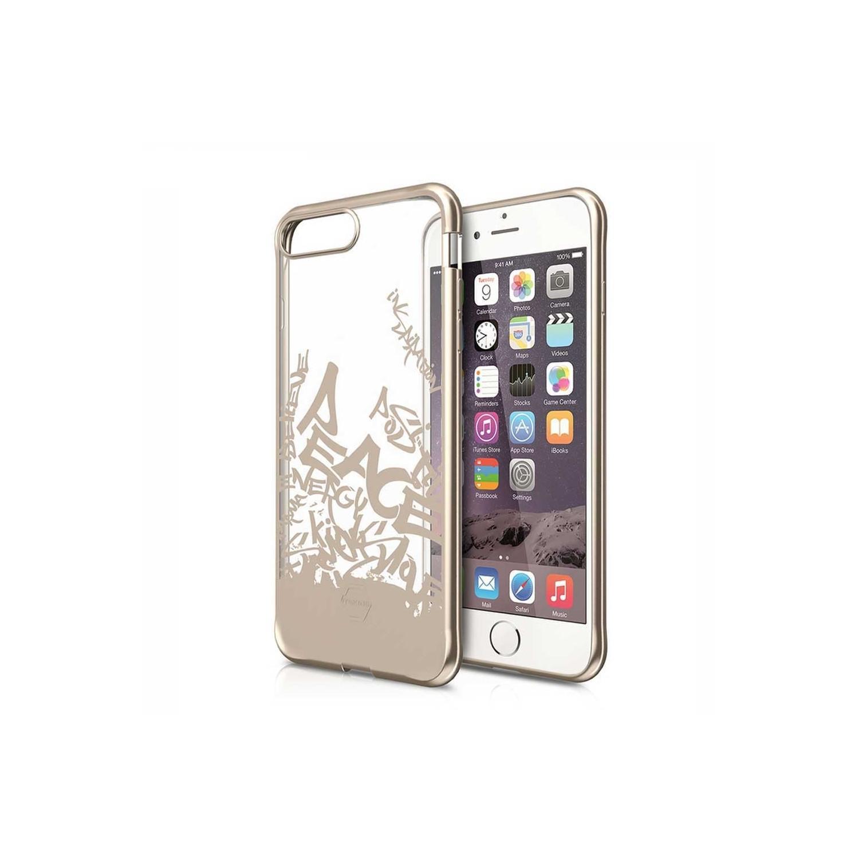. Funda ITSKINS Artgel para iPhone 8 PLUS y 7 PLUS Tran Gold