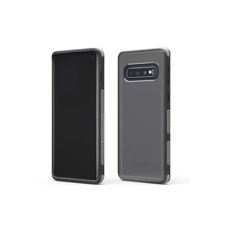 . Funda PUREGEAR Dualtek Clear para Samsung S10 Transp Negro