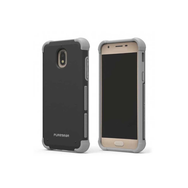. Funda PUREGEAR Dualtek para Samsung J3 2018 Negra Uso Rudo