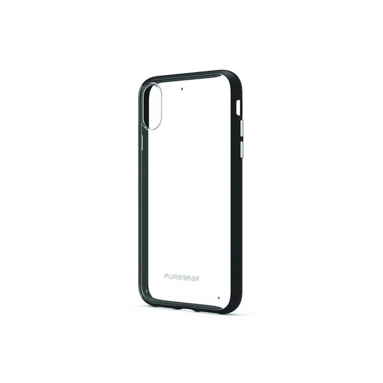 . Funda PUREGEAR Slimshell para iPhone X y Xs Transparente / Negro