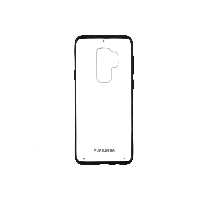 . Funda PUREGEAR Slimshell Pro para Samsung S9 PLUS Transparente borde Negro