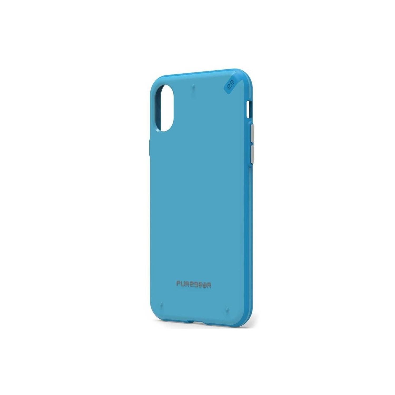 . Funda PUREGEAR Slimshell para iPhone X y Xs Azul