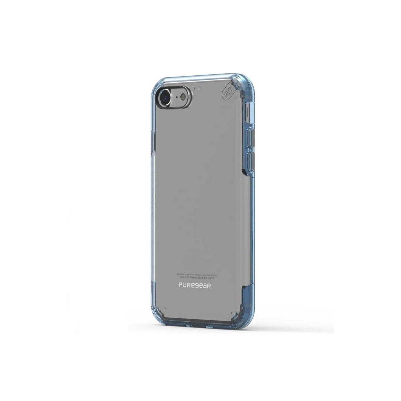 . Funda PUREGEAR Slimshell Pro para iPhone SE iPhone 8 Transp Azul