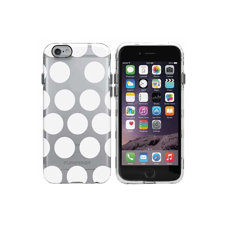 . Funda PUREGEAR Motif para iPhone 6 PLUS Transp Puntos