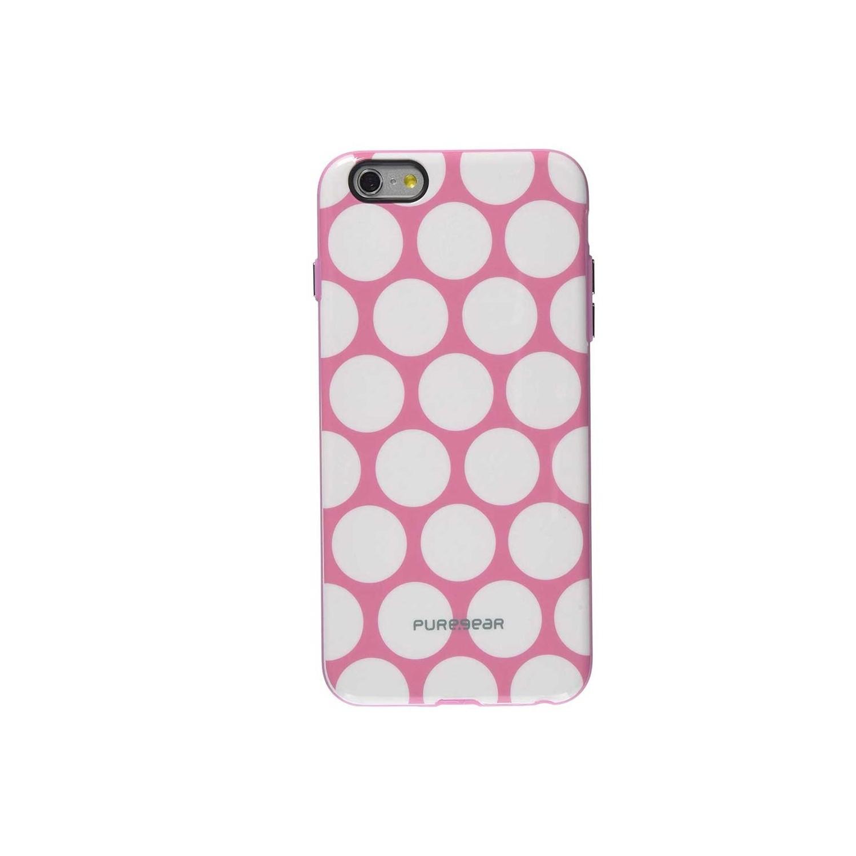 . Funda PUREGEAR Motif para iPhone 6 y 6s Rosa Puntos
