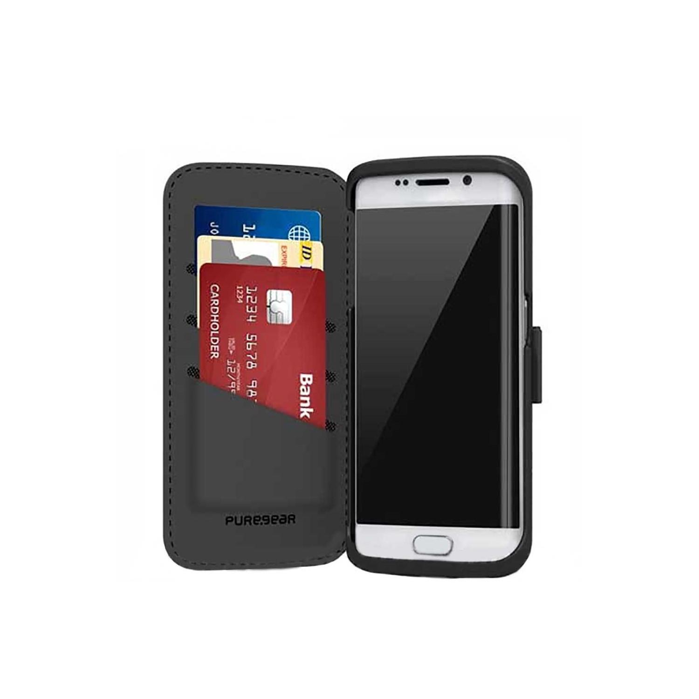 . Funda PUREGEAR Folio Case para Samsung S6 Edge Negro