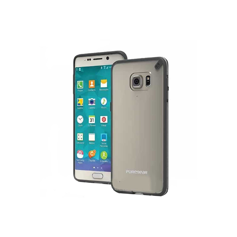 . Funda PUREGEAR Slimshell para Samsung S6 EDGE PLUS Transp negro