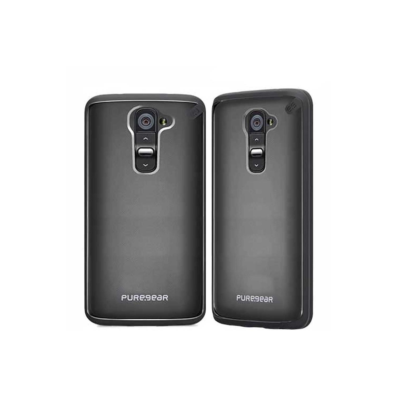. Funda Puregear Slimshell para LG G2 Transp Obscuro Borde Obscuro