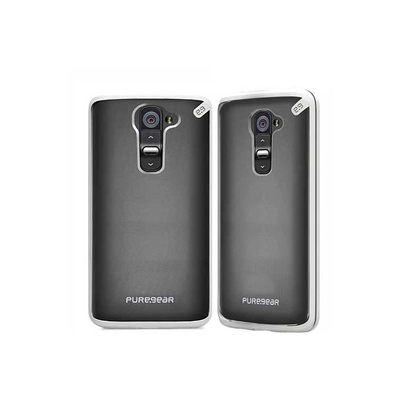 . Funda Puregear Slimshell para LG G2 Transparente borde Blanco