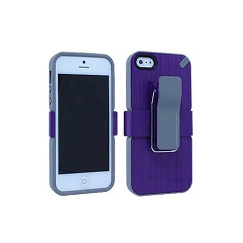 . Funda PUREGEAR Utilitarian Violeta para iPhone SE 2016 iPhone 5s y 5 con clip holster