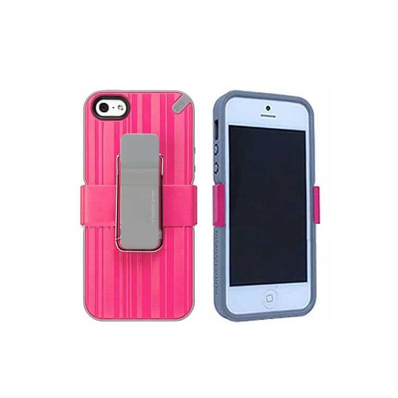 . Funda PUREGEAR Utilitarian para iPhone SE 2016 iPhone 5s y 5 Utilitarian Rosa con clip holster