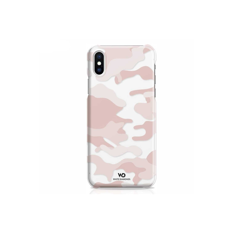 . Funda WHITE DIAMONDS para iPhone X y Xs Translucida Camo Rosa