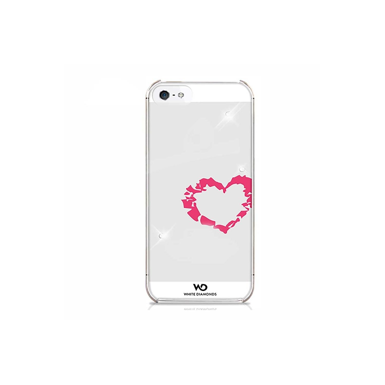 . Funda WHITE DIAMONDS Corazon para iPhone SE 2016 iPhone 5s y 5 Transparente
