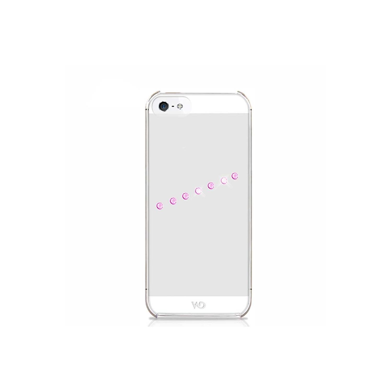 . Funda WHITE DIAMONDS Sash Ice Rosa para iPhone SE 2016 iPhone 5s y 5 Rosa Transparente