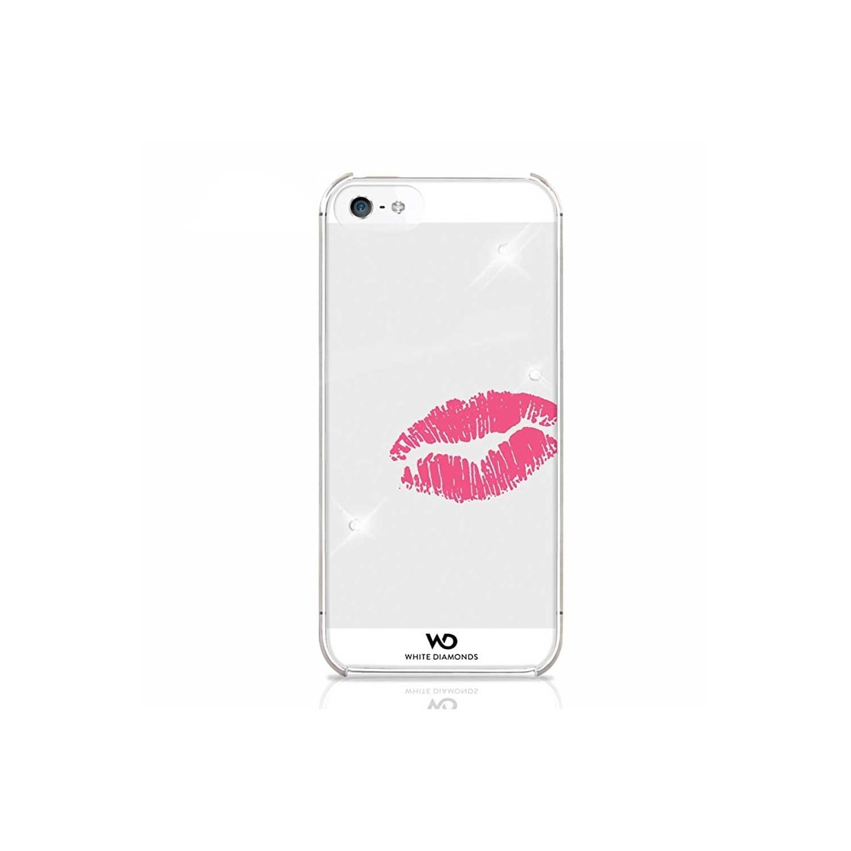 . Funda WHITE DIAMONDS Kiss para iPhone SE 2016 iPhone 5s y 5 Lipstick Kiss Transparente