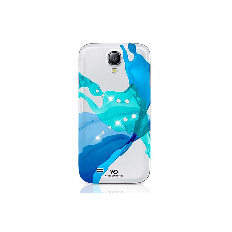 Case - White Diamonds Samsung S4 Liquids Blue - Clear