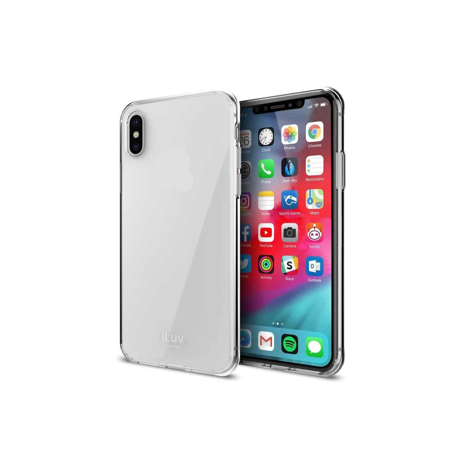 Case - iLuv Vyneer for iPhone XS MAX Clear