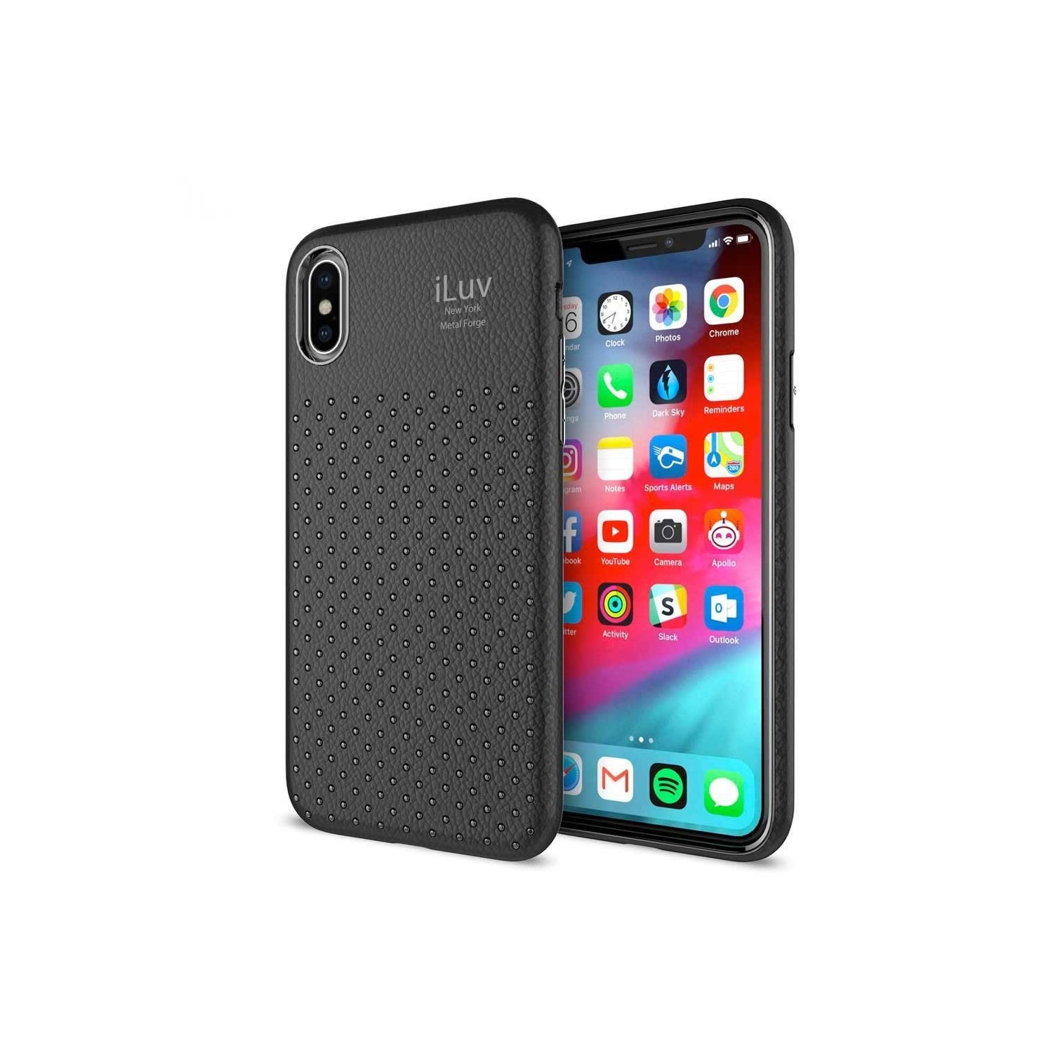 Case - iLuv Metal Forge for iPhone XS MAX Case - Black