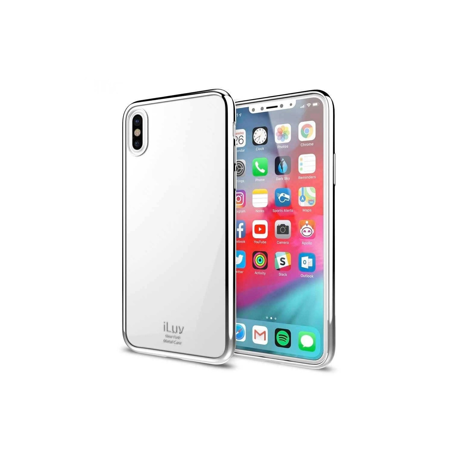 Case - iLuv Metal Care for iPhone XS MAX Case - Silver