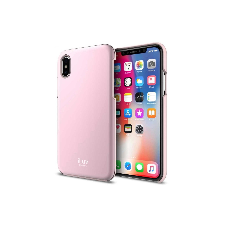 . Funda ILUV Metal Forge para iPhone X y Xs Rosa