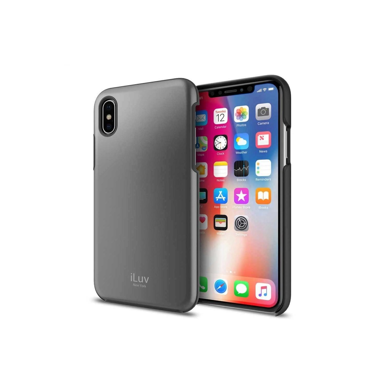 . Funda ILUV  Metal Forge para iPhone X y Xs Gris