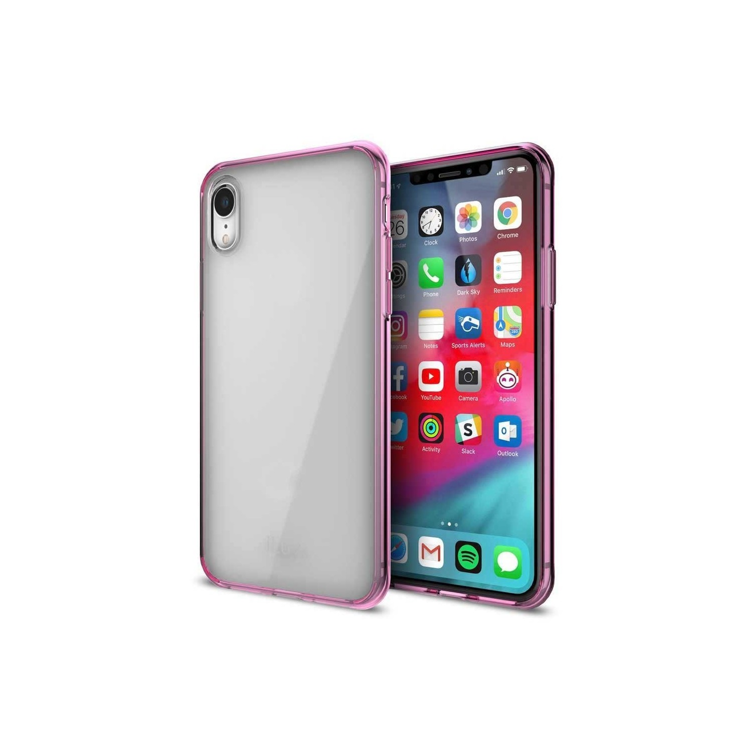 Case - iLuv Vyneer for iPhone XR Clear Pink