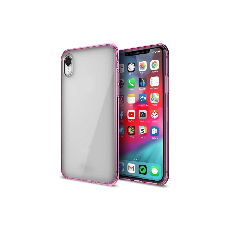 . Funda ILUV Vyneer para iPhone XR Transparente Rosa