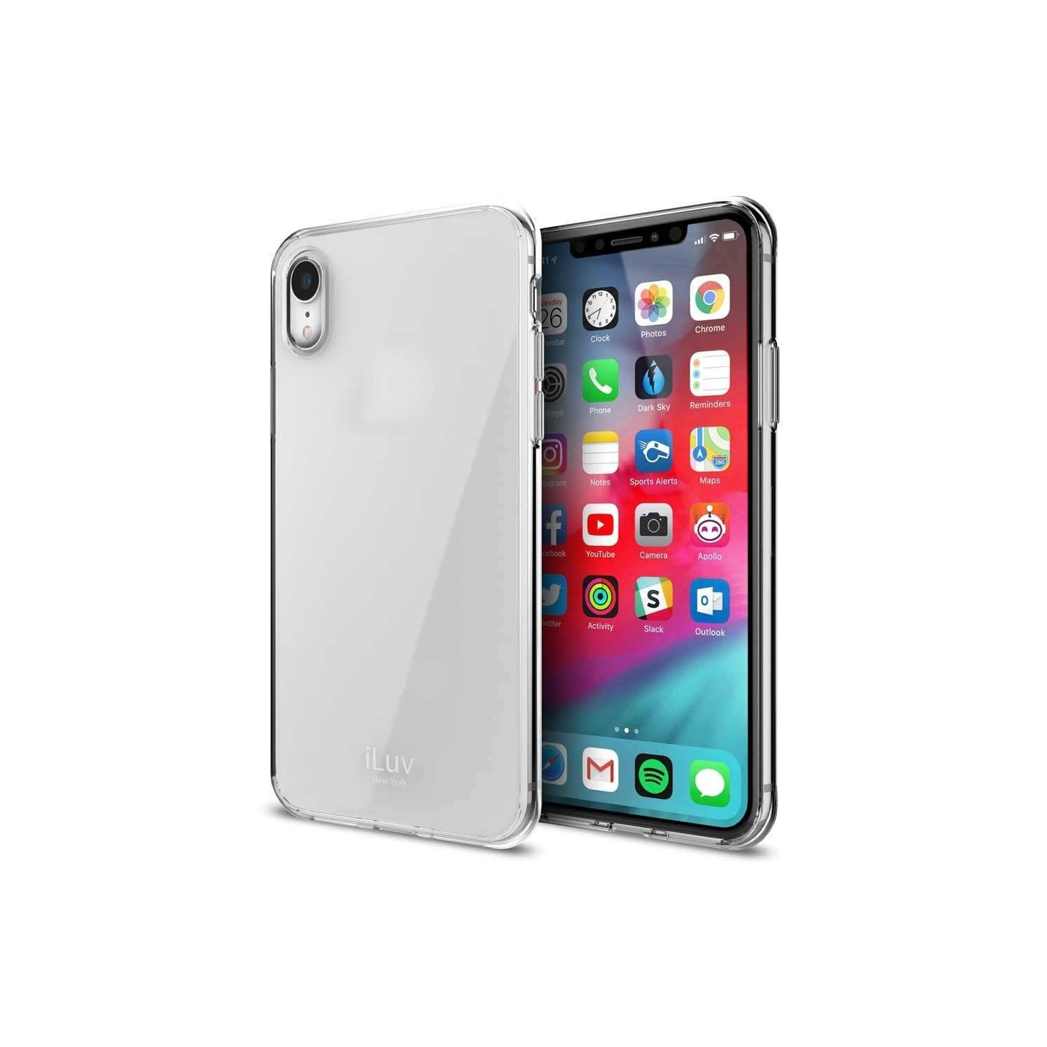 Case - iLuv Vyneer for iPhone XR Clear