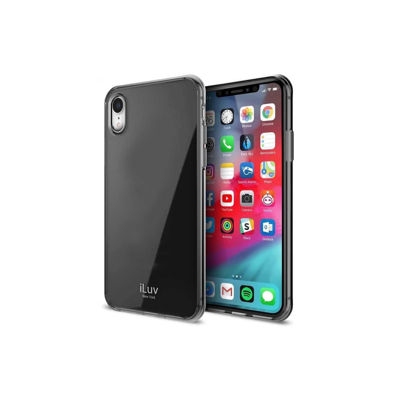 . Funda ILUV Vyneer para iPhone XR Humo Translucido