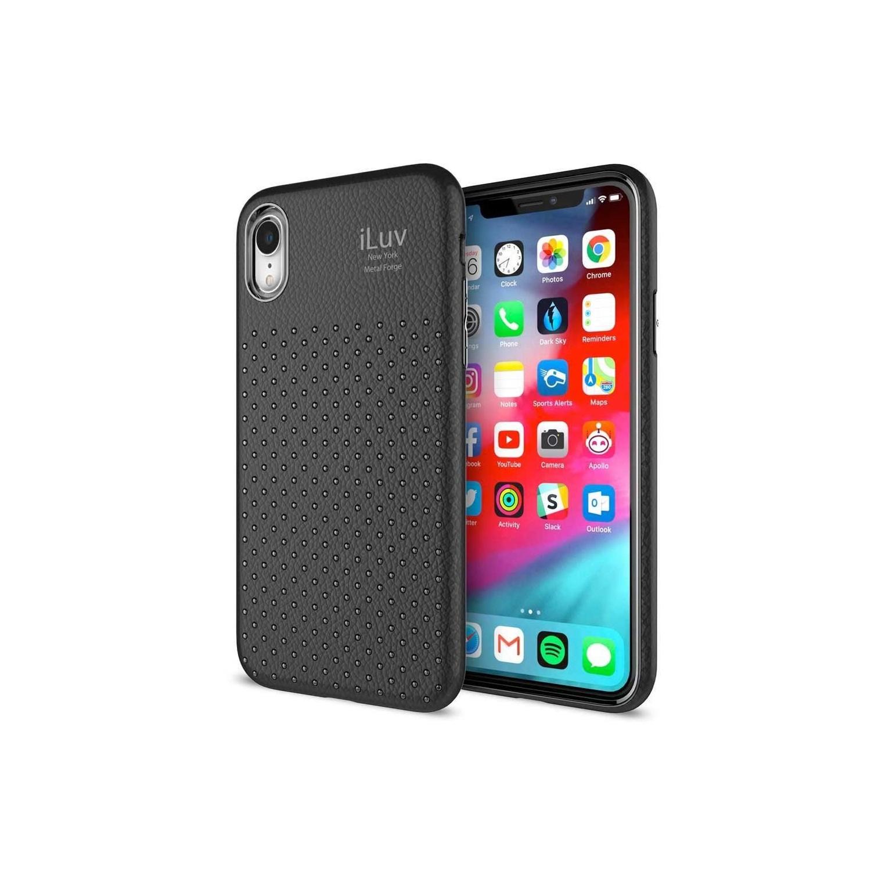 . Funda ILUV Metal Forge para iPhone XR Negra