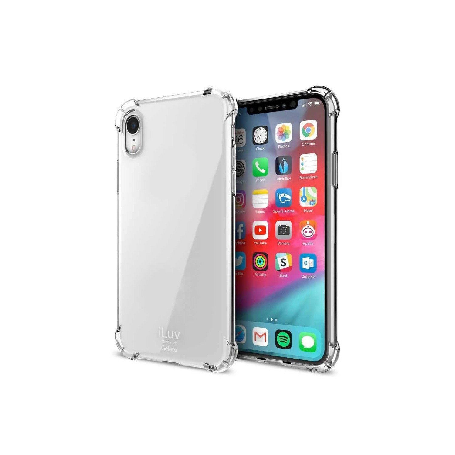 Case - iLuv Gelato for iPhone XR Case - Clear