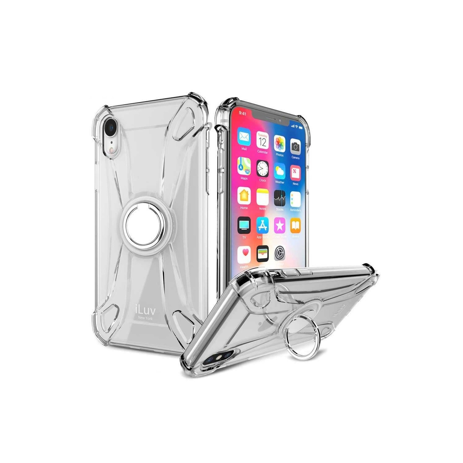 Case - iLuv Crystal Ring for iPhone XR - Clear