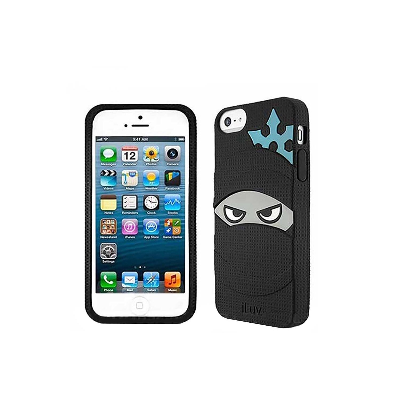 . Funda ILUV shell para iPhone SE 2016 iPhone 5s y 5 Ninja negro