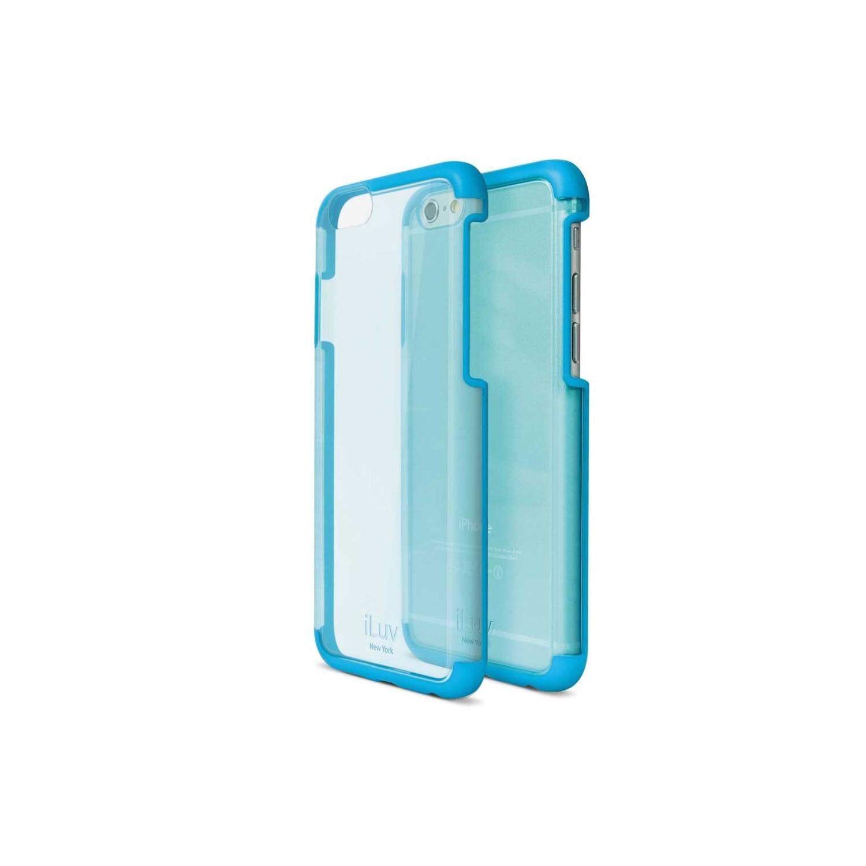 . Funda ILUV Vyneer para iPhone 6 y 6s Transp Azul
