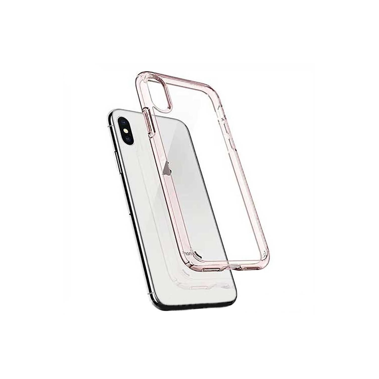 . Funda SPIGEN para iPhone X y Xs Ultra Hybrid Rosa Transparente Crystal