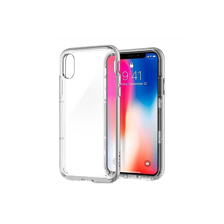 . Funda SPIGEN para iPhone X y Xs Neo Hybrid Playa Crystal Transparente
