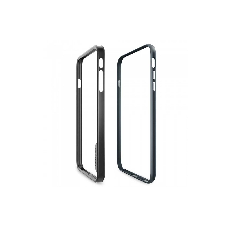 . Funda bumper SPIGEN para iPhone 6 (no 6s) Neo Hybrid EX transp borde Gunmetal