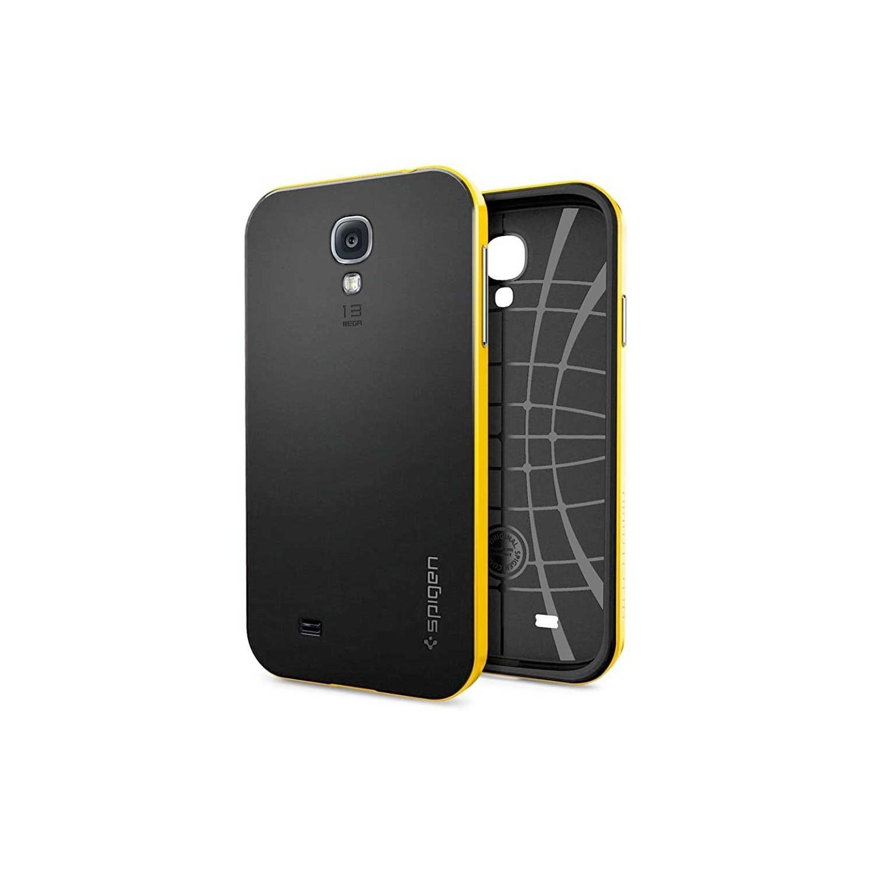 . Funda SPIGEN para Samsung S4 Neo Hybrid Amarillo Negro