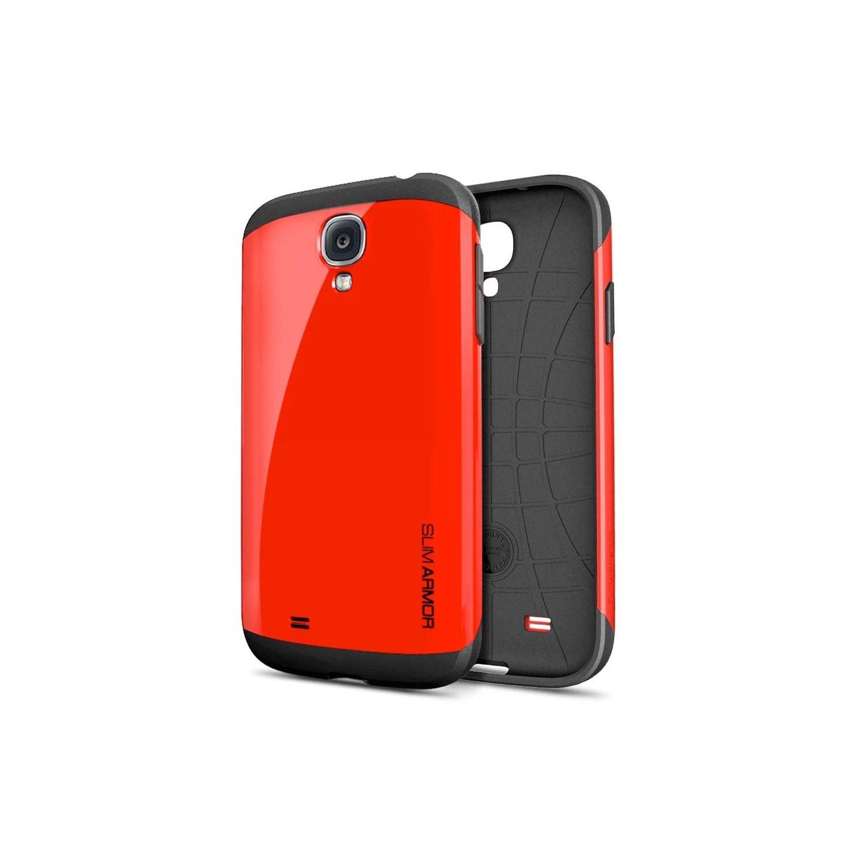 . Funda SPIGEN para Samsung S4 Slim Armor Rojo