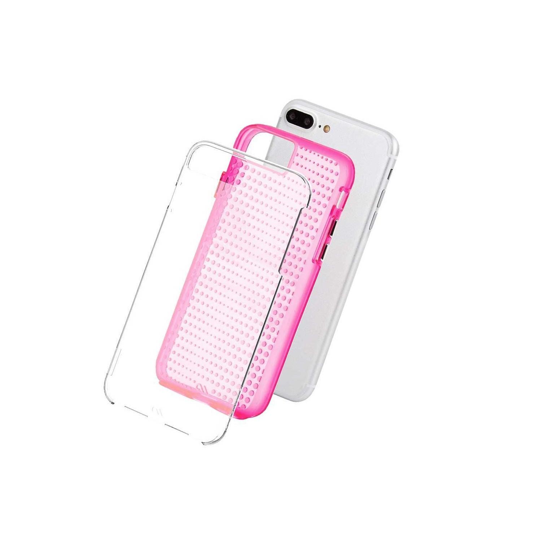 . Funda CASE MATE Tough rosa paraiPhone8 PLUS Translucido Dots
